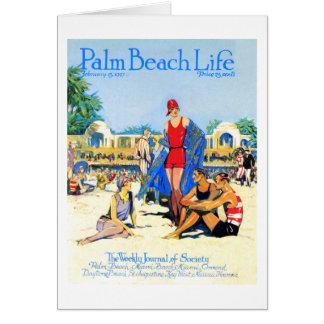 Tarjeta de nota de la vida 13 del Palm Beach