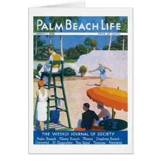 Tarjeta de nota de la vida 14 del Palm Beach