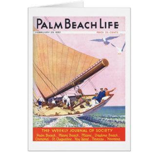 Tarjeta de nota de la vida 15 del Palm Beach