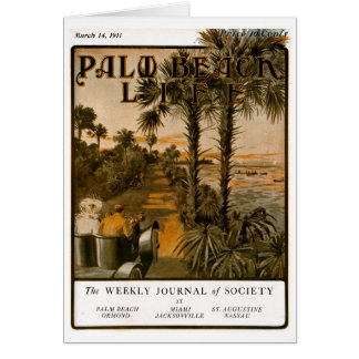 Tarjeta de nota de la vida 17 del Palm Beach