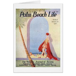 Tarjeta de nota de la vida 18 del Palm Beach