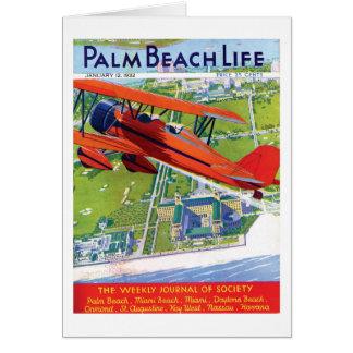 Tarjeta de nota de la vida 1 del Palm Beach