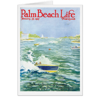 Tarjeta de nota de la vida 2 del Palm Beach