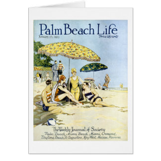 Tarjeta de nota de la vida 3 del Palm Beach