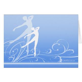 Tarjeta de nota de la voluta de la danza (personal