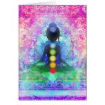 Tarjeta de nota de la yoga de la meditación
