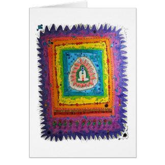 Tarjeta de nota de la yogui