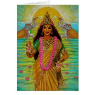 Tarjeta de nota de Lakshmi de la diosa