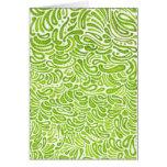 Tarjeta de nota de las habas verdes