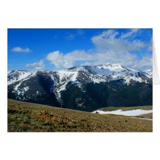 Tarjeta de nota de las montañas de Colorado - paso