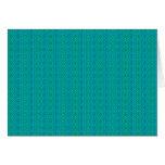 Tarjeta de nota de las rayas verdes y azules