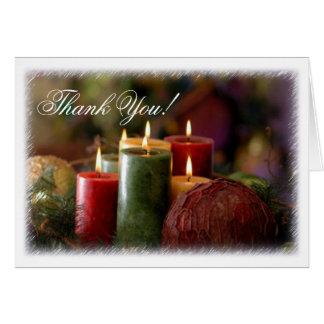 Tarjeta de nota de las velas del navidad