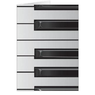 Tarjeta de nota de llaves del piano