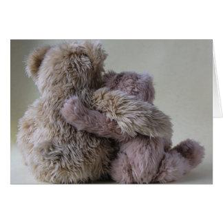 tarjeta de nota de los amigos del oso