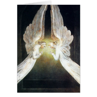 Tarjeta de nota de los ángeles de Guillermo Blake