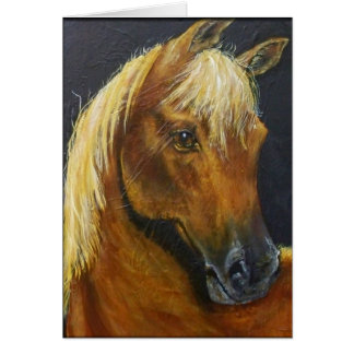 Tarjeta de nota de los caballos