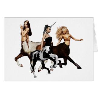 Tarjeta de nota de los Centaurs