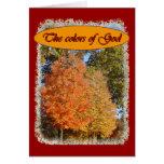Tarjeta de nota de los colores de dios