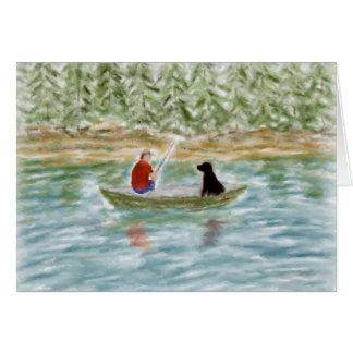 Tarjeta de nota de los compinches de la pesca