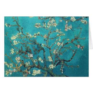 Tarjeta de nota de los flores de la almendra de Va