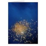 Tarjeta de nota de los fuegos artificiales