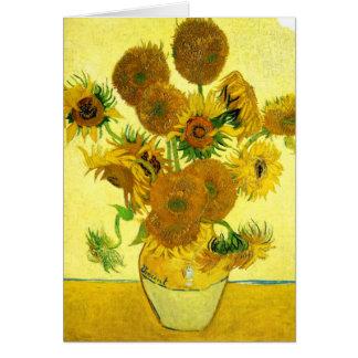 Tarjeta de nota de los girasoles de Van Gogh