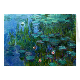 Tarjeta de nota de los lirios de agua de Monet Nym