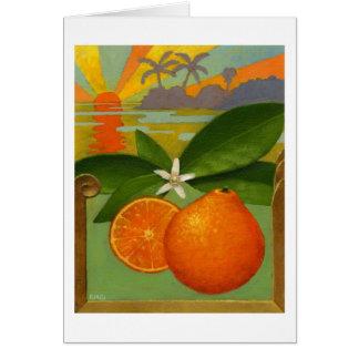 Tarjeta de nota de los naranjas