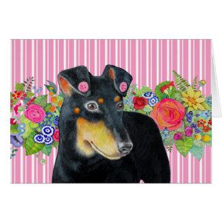 Tarjeta de nota de Manchester Terrier