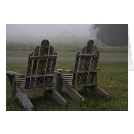 Tarjeta de nota de niebla de la granja