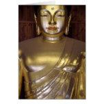 Tarjeta de nota de oro de Buda