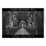 Tarjeta de nota de papa Francisco Visits