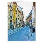 Tarjeta de nota de París que ofrece Le Marais.