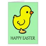 Tarjeta de nota de Pascua Chicky