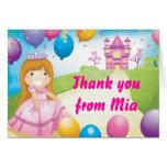 Tarjeta de nota de princesa Thank You