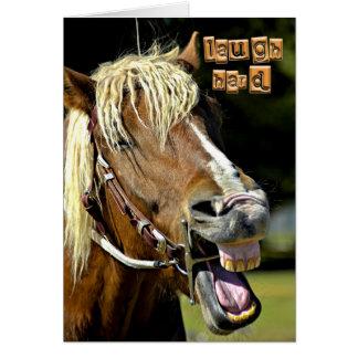 Tarjeta de nota de risa del caballo