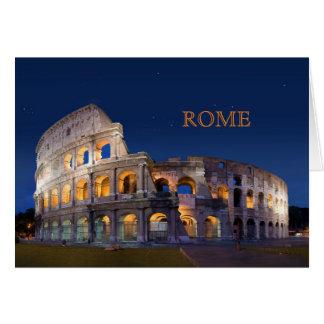 Tarjeta de nota de Roma del coliseo