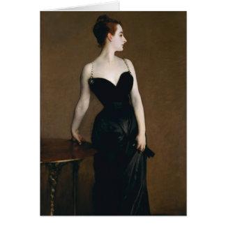 Tarjeta de nota de señora X de John Singer Sargent