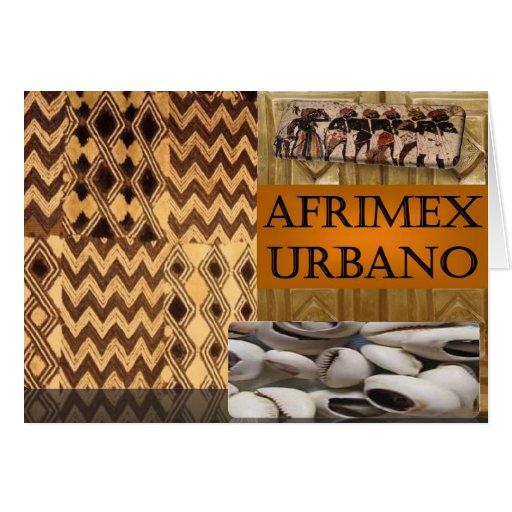 Tarjeta de nota de serie de la firma de AfriMex Ur