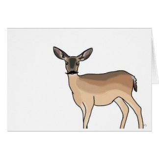 ¡Tarjeta de nota de Stache de los ciervos!