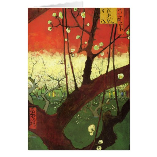 Tarjeta de nota de Van Gogh Japonaiserie