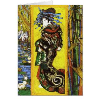 Tarjeta de nota de Van Gogh Japonaiserie Oiran