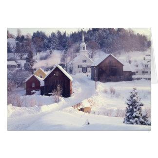 Tarjeta de nota de Vermont del río de las esperas