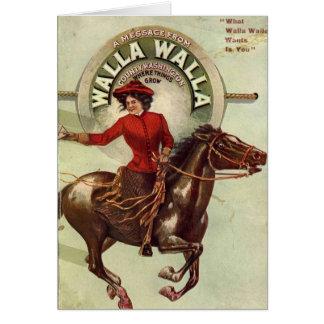 Tarjeta de nota de Walla Walla