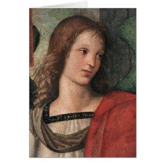 Tarjeta de nota del ángel del navidad de Raphael R