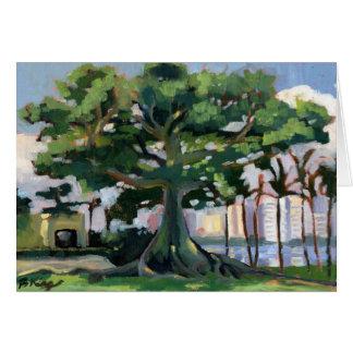 Tarjeta de nota del árbol de Kapok