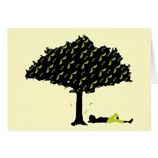 Tarjeta de nota del árbol de la nariz de Polly