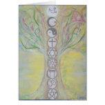 Tarjeta de nota del árbol de la unidad - el amor s