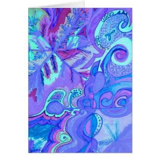 Tarjeta de nota del arte abstracto