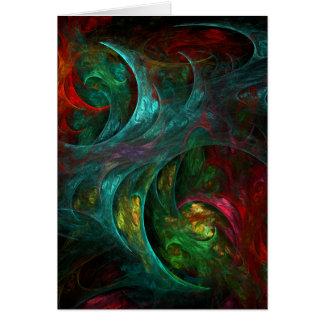 Tarjeta de nota del arte abstracto de Nova de la g